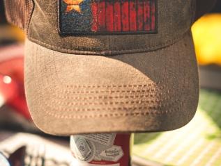 American Beer, Texan Cap, but the sun isBritish!